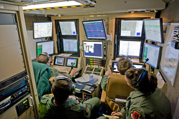 photo of UAV control room