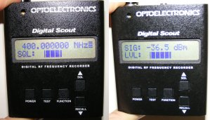Image of Optoelectronics Digital Scout showing Tetra incoming.