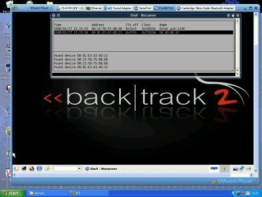 Backtrack Screengrab